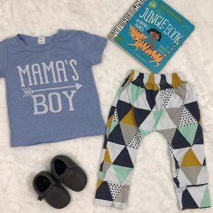 Other - Mama's Boy Top and Triangle Pant Set